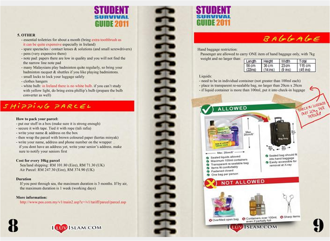 Student survival guide intelligible message
